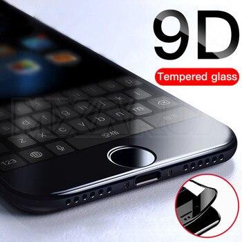 Перейти на Алиэкспресс и купить 9D полное покрытие закаленное стекло для iPhone 8 7 6 6S Plus SE 2020 Защитная пленка для экрана iPhone X XR 11 Pro XS Max