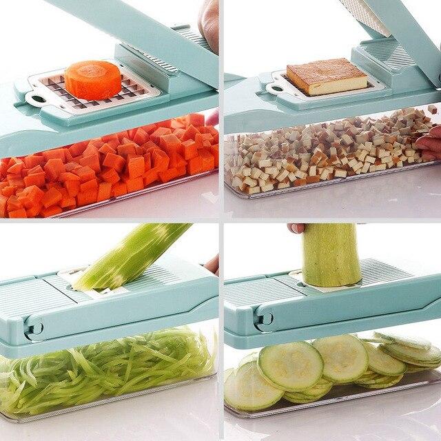 Cortador multifuncional, cortador multifuncional para cozinha, ralador, descascador e ralador, de vegetais, batata, cenoura, frutas, acessórios de cozinha 6