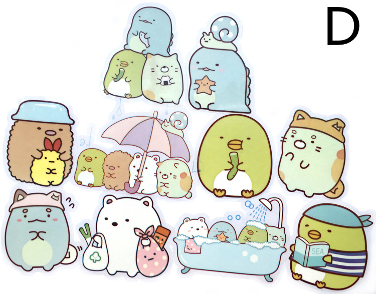 100sheet Mikimouse Instagram Kawaii Aesthetic Sumikko Gurashi Stickers With Clear Background Water Bottles Vinyl Cool Sticker