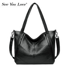 New Retro Ladies Handbag Brand bags For Women 2019 Fashion Soft Pu Leather Crossbody Messenger Bag Women Female Shoulder Bags недорого