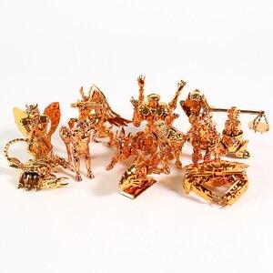 Image 5 - Saint Seiya The Gold Zodiac Sagittarius Aries Taurus Libra Scorpio Mini PVC Figures Collectible Toys 12pcs/set