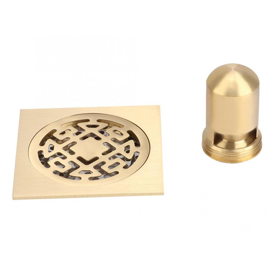 Bathroom Copper Core Floor Drain Shower Drainer Anti Clogging and Odor Floor Strainer It Can Be Used In Kitchen Basement image