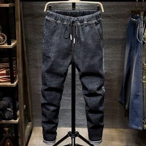 Image 2 - Grandi jeans di formato degli uomini di colore uomo più il formato dei pantaloni harem di autunno elastico stretch Slim pantaloni piedi 7XL 6XL 5XL