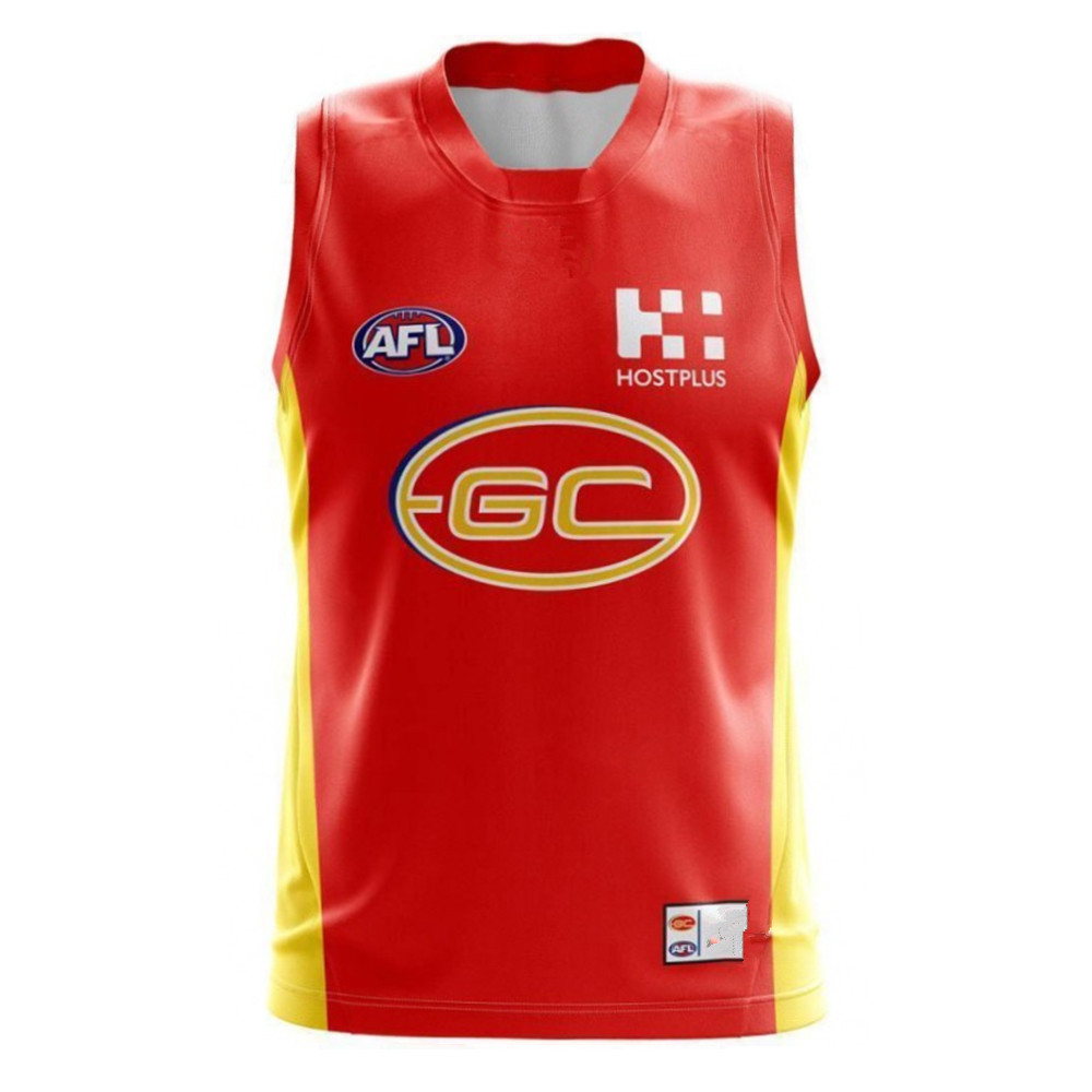 AFL GOLD COAST SUNS 2019 MEN'S HOME JERSEY size S-3XL Print custom names and numbers Top quality Free shipping(China)