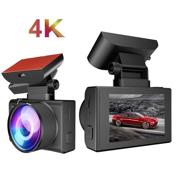 NEW 4K 2160P WIFI GPS Logger Dual Lens Car DVR HISILICON Chip Sony IMX335 Sensor Night Vision Dual Camera Dash Cam Recorder image