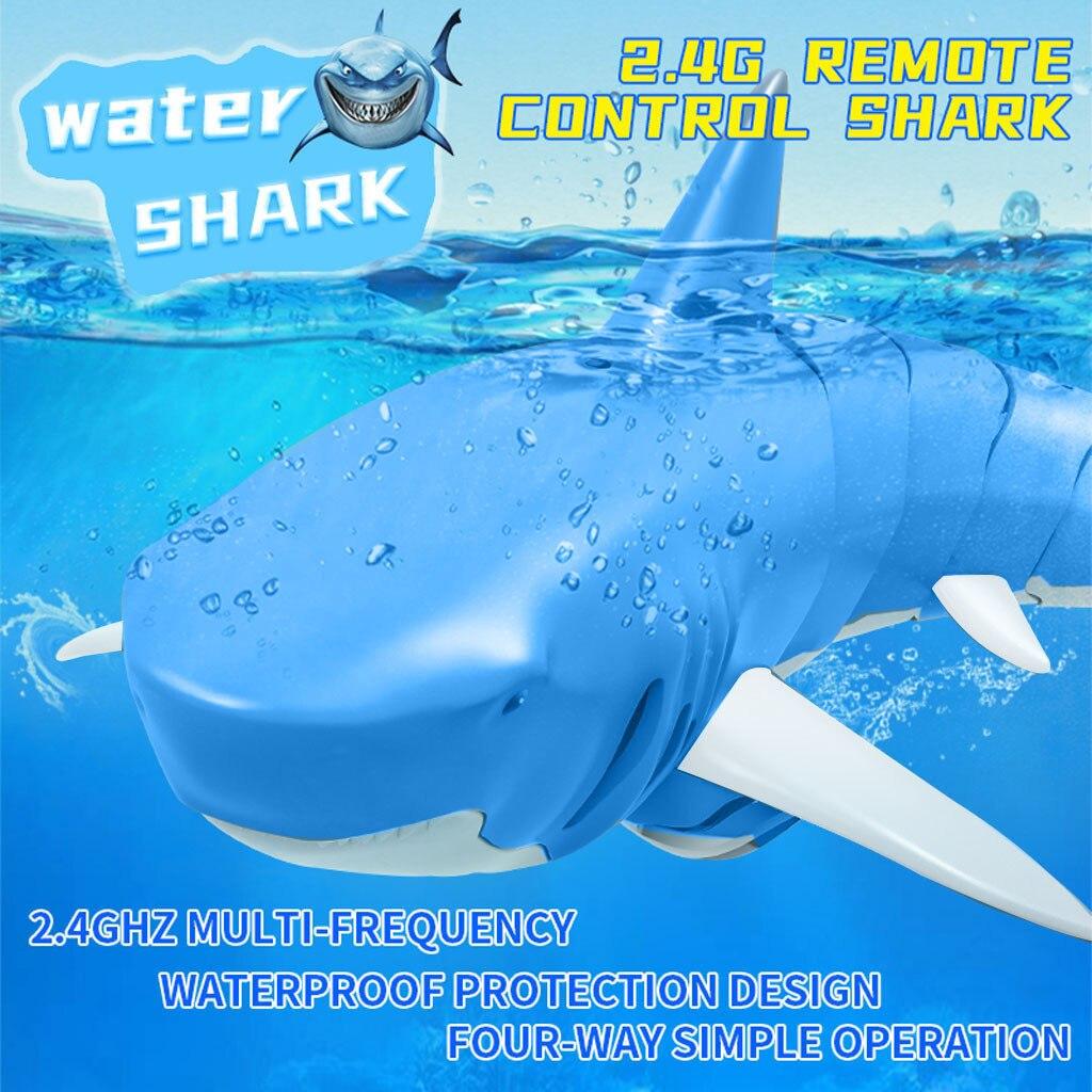 2,4G simulación de Control remoto tiburón Barco de juguete para piscina baño juguetes de juguete para niños regalos # C