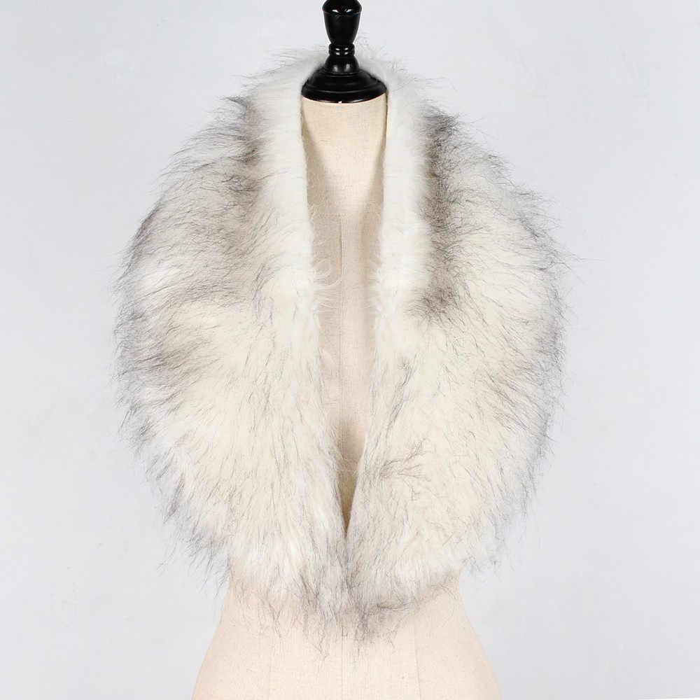 Longue chaude cou enveloppes écharpe pour dames grands châles Vintage élégant femmes fausse fourrure col écharpe châle col étole écharpes