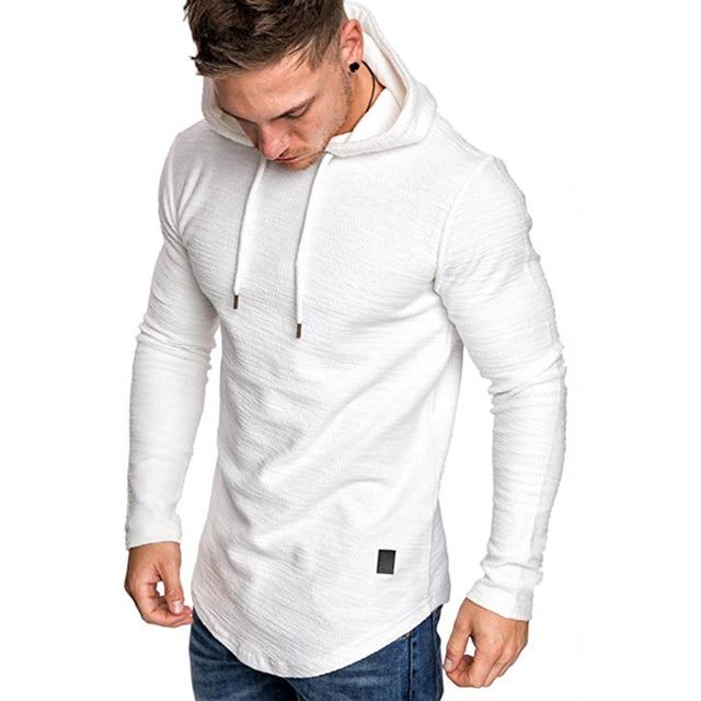 2021 New Men's Brand Pure Color Sweatshirt Fashion Men's Hoodie Spring Autumn Winter Casual Hoodie Men's Long Sleeve M-3XL 4