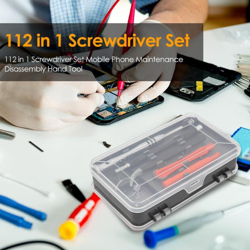 112 in 1 Screwdriver Set Mobile Phone Maintenance Disassembly Hand Tool112 in 1 Hand Tool Set Screwdriver Set Mobile Phone Maint (112 Pcs)