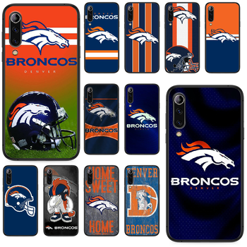Denver Bronco American Football Phone case For Xiaomi Mi 6 8 A1 Note3 A2 9 CC9 9T A3 MIX 2 2S 3 9 Lite SE Pro black shell soft image