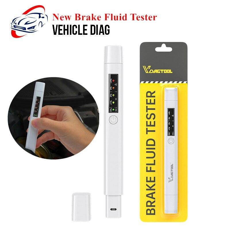 Новый тестер тормозной жидкости, 5 светодиодный, ручка для проверки качества масла, тестер тормозной жидкости для DOT3/DOT4/DOT5, инструменты для диагностики автомобиля