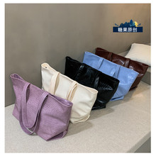 Korean Fashion Tote Bag Vintage Beach Minimalist Shopping Tote Bag Shoulder Aesthetic Bolsos Para Mujer Ladies Bag DE50TT
