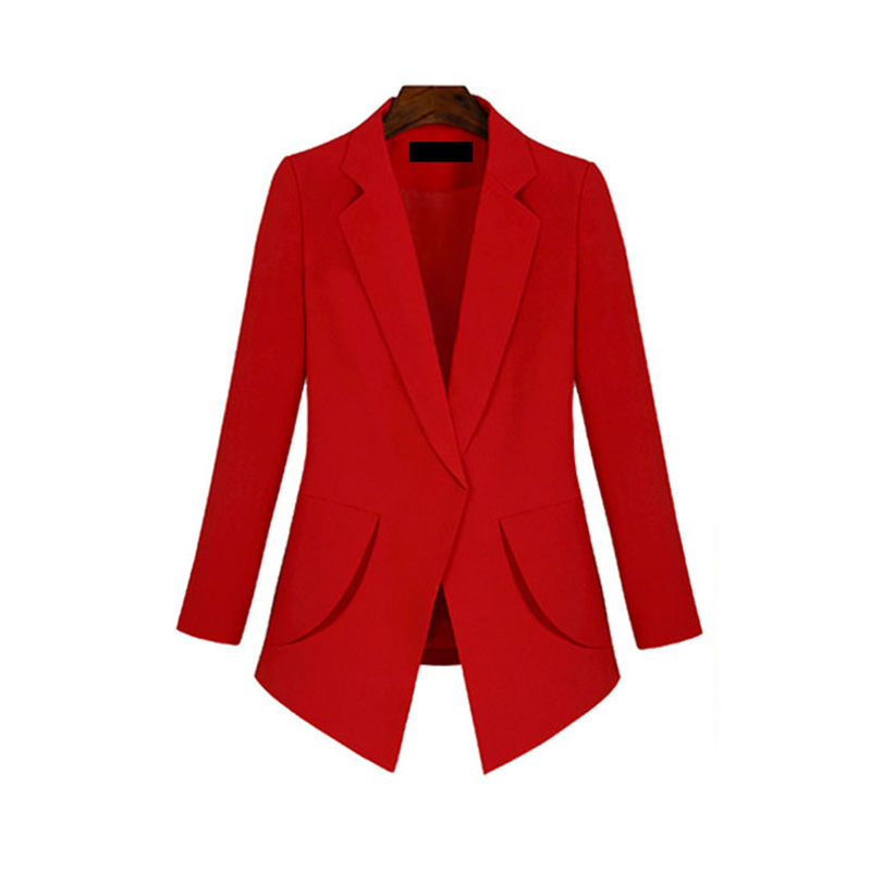 2020 new spring and autumn casual ladies jacket L-6XL Stylish mid-length women's blazer High quality small suit red black