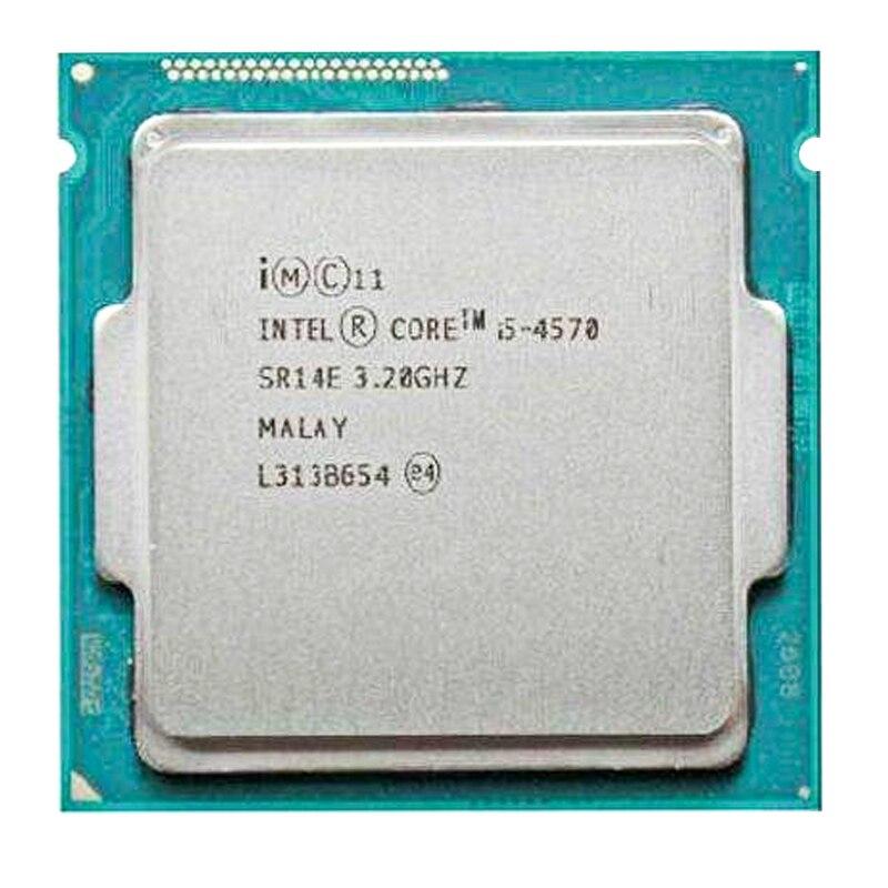 Intel Core I5 4570 i5 4570 3,2 GHz 4 core 4 threads 6MB Sockel LGA 1150 четырехъядерный процессор SR14E i5-4570
