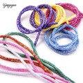 10 ярдов 6 мм Блестящие Блестки Стразы Мягкая трубка шнур веревка для рукоделия Блестящий Воротник для одежды товары для рукоделия