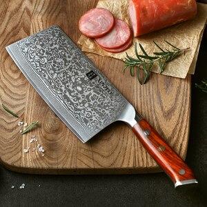 """Image 5 - XINZUO 6.5 """"بوصة سكين التقطيع اليابانية الصلب دمشق الصلب سكاكين المطبخ عالية الجودة الساطور الشيف السكاكين روزوود مقبض"""