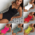 Einem Stück Sexy Schwarzen Badeanzug Hohe Cut Solide Body ladys Bikini Gepolsterter Bh Bandage Badeanzug Monokini Bademode