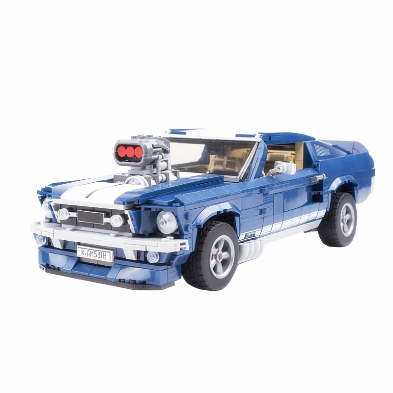 1967 Forded Mustanged Creator Expert Legoingly Technic Super Racing Car Model Kit Building Block Educational Bricks DIY Kids Toy
