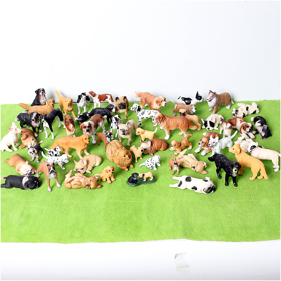 Realistic Plastic Dog Model Figurines,Hand Painted Emulational Dogs Animal Toy Action Figures Cake Toppers For Kids Toddlers
