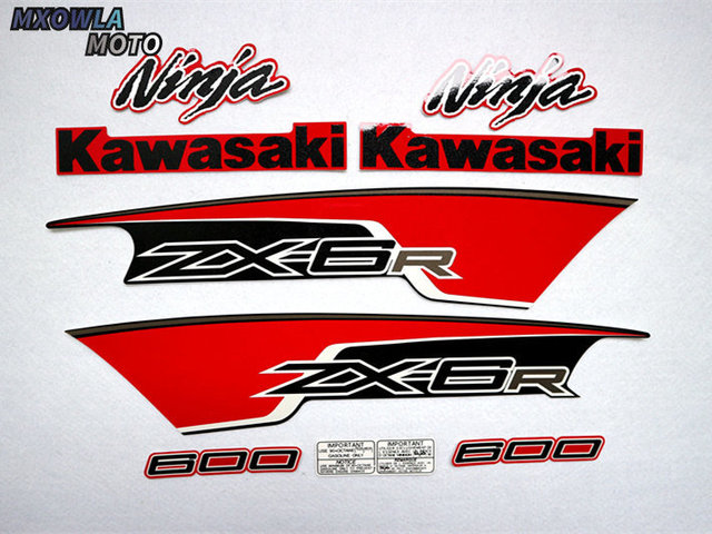$ 36.69 Motorcycle For Kawasaki NinjaZX6R 09-11 Ninja ZX 6R 2009-2011 ZX6R Sticker Full Kit Applique High Quality Whole Vehicle Decal