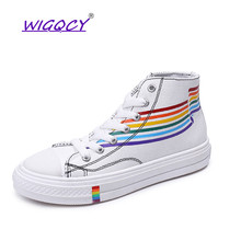 Women High-top Colors Canvas Shoes 2019 Comfortable Sneakers