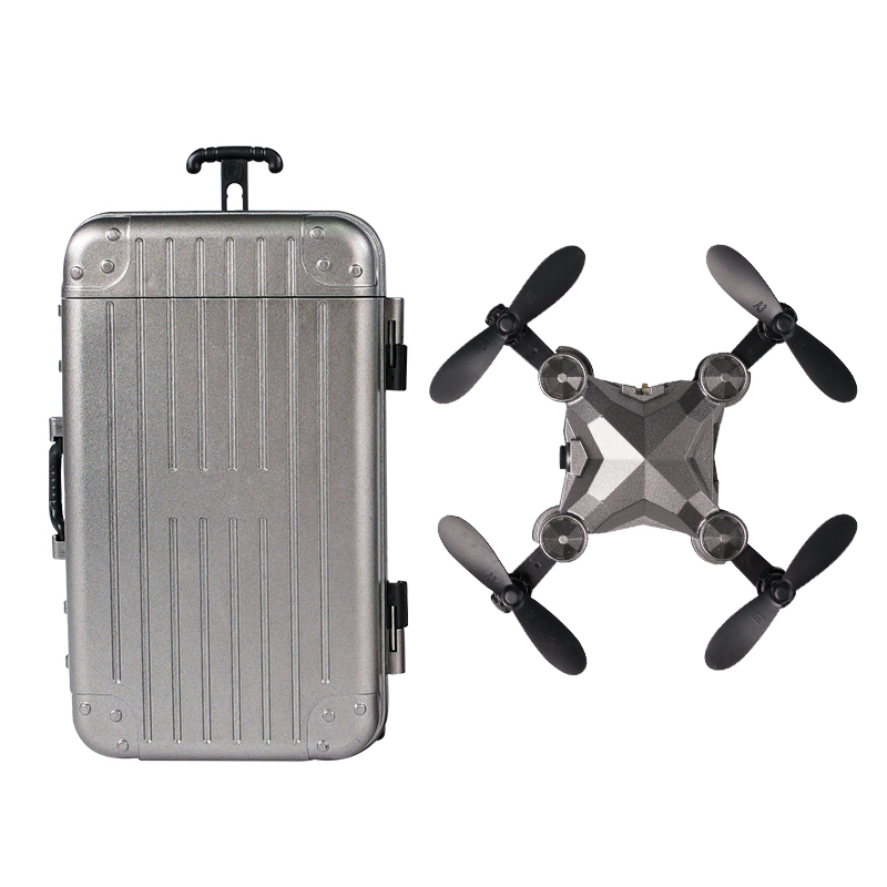 Luggage Mini Drone Folding Aerial Photography Remote Control Aircraft Four-Axis Aircraft Children s Toy