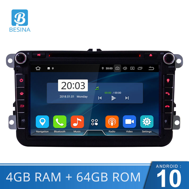 Besina ANDROID 2din Car DVD GPS <font><b>radio</b></font> stereo player for Volkswagen <font><b>VW</b></font> golf 6 touareg T5 passat B6 sharan <font><b>Touran</b></font> polo tiguan Seat image