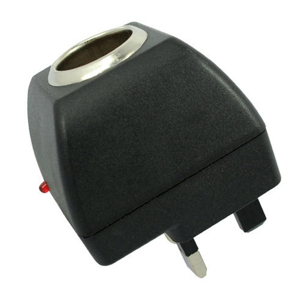 British Car Charger Socket Switch Cigarette Lighter Socket 240v Power Plug To 12v Dc Car Charger Power Adapter Uk