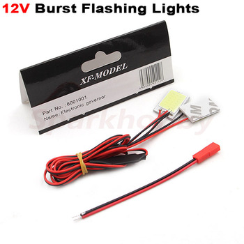 1PC SU27 F722 Flashing LED Burst Flashing Lights Waterproof DIY Lamp 12V Power Supply Fixed-Wing Multicopter Car Boat Airplane image