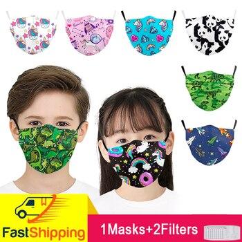 Face Masks Cute Reusable Cartoon Mask Totoro Print Pink Masks Fabric Protective PM2.5 Washable Mouth Mask