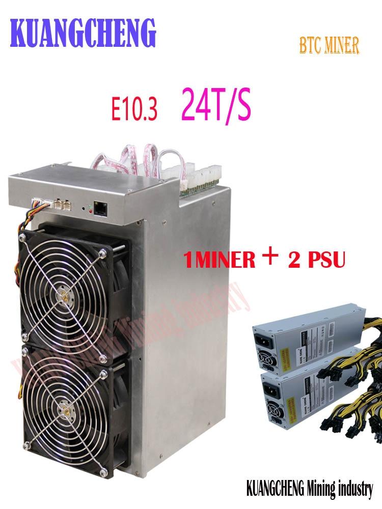 New Ebit E10.3 24TH/S With PSU BCH BTC Miner Economic Than BITMAIN Antminer S9 S9j S9k S9SE S11 S15 T9+ T15 WhatsMiner M3