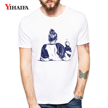 T-Shirt Women 3D Print Hipster Girl Funny Graphic Tees Casual White Tee Shirts Summer Unisex Tops O-Neck Short Sleeve