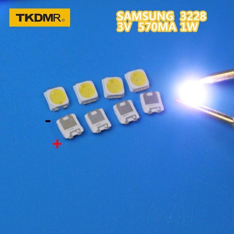 TKDMR 50PCS SAMSUNG LED Backlight TT321A 1.5W 3V 3228 2828 Cool White LCD Backlight For TV TV Application SPBWH1320S1EVC1BIB