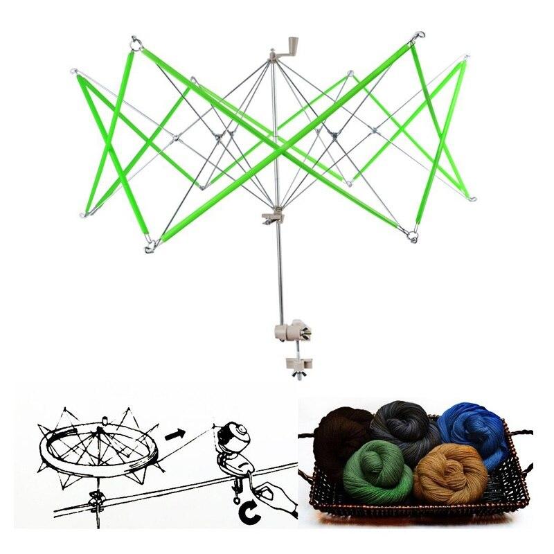 1 ensemble bobineuse de fil Simple Table Type Rocker enrouleur fil Shaker parapluie Support orthèse outils de tricotage Support professionnel