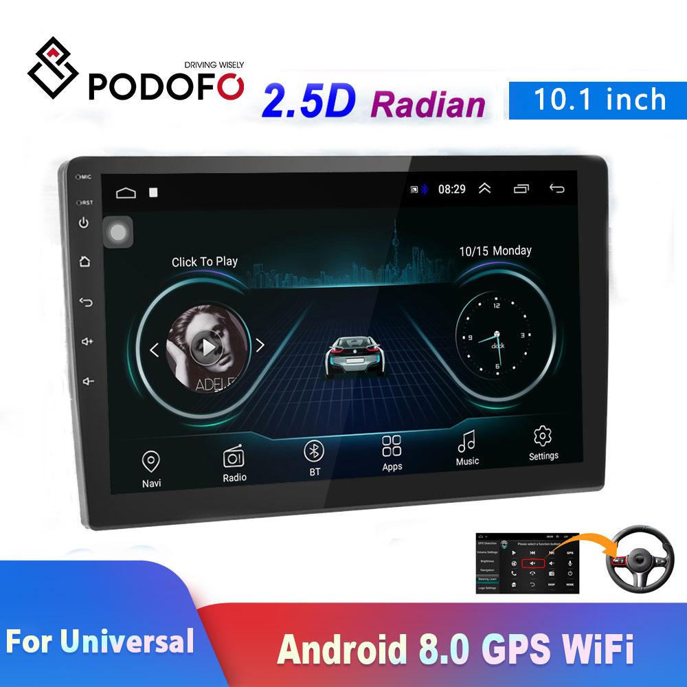 Podofo 2din car radio 10 1 Android 8 0 1080P autoradio GPS navigation WiFi ISO Android