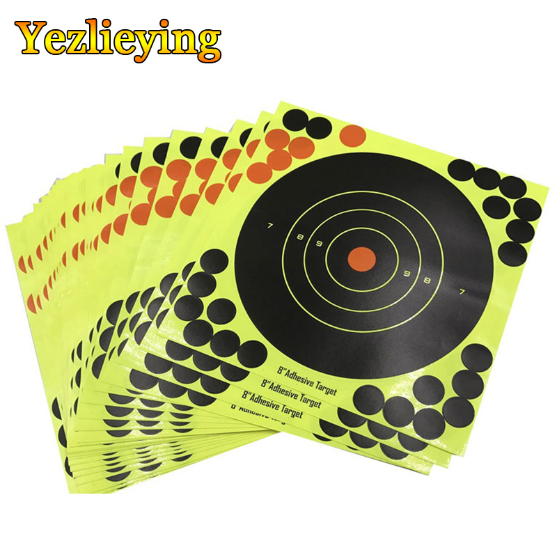 2020 Hot Sale 10Pcs Shoot Target Adhesive Reactivity Aim Shoot Target Splatter Flower Objective Colorful 8-Inch Targets Stickers