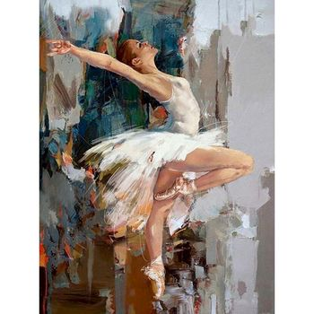 GATYZTORY 60×75cm Diy Frame Ballet Painting By Numbers Canvas Figure Oil Paint By Numbers Handpainted Diy Gift Home Wall Decor gatyztory diy painting by numbers flowers canvas drawing figure oil painting handpainted home decor gift