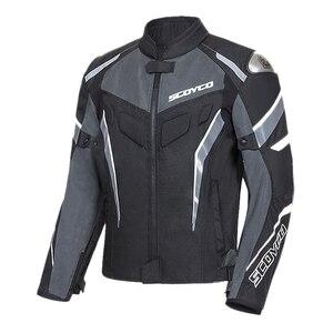 Image 2 - SCOYCO Man Motorcycle Jacket Body Armor Moto Jacket Riding Jacket Reflective Motocross Chaqueta Protective Gear Clothing