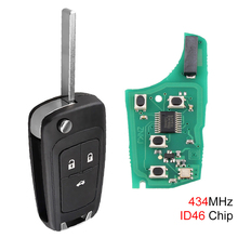 434MHz 3 Buttons Car Remote Key Fob ID46 Chip for 2010-2015 Astra J 2014-2016 Corsa E 2009-2015 Insignia 2012-2016 ZafiraC