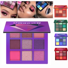 New 9 Colors Eye Shadow Long-lasting Waterproof Palette Matte Shimmer Glitter Shadow Of Eye Shadow Palette Blush Makeup цены онлайн
