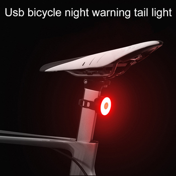 Bicycle Rear Light USB Rechargeable Waterproof Bike Light for MTB Helmet Pack Bag Tail Light 5 Models Cycling Taillight image