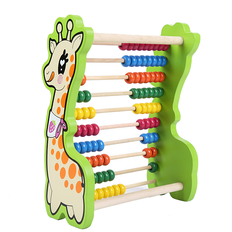 Calculation Frame Mathematics Teaching Aids Kindergarten Young STUDENT'S First Grade Abacus Wooden Arithmetic Toy Enlightenment
