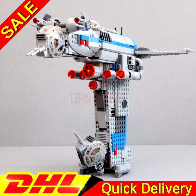 LP 05129 The Resistance Bomber Star Plan Series Building Blocks Bricks Assemblage legaoings Toys DIY Educational Model <font><b>75188</b></font> image