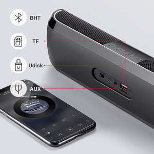 Image 2 - Sanlepus Bluetooth Outdoor Speaker Metal Draagbare Super Bass Draadloze Luidspreker 3D Stereo Muziek Surround Met Tfcard Aux