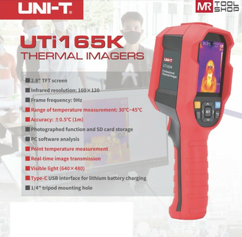 UNI-T UTi165K / UTi85H + Thermal Imager has Alarm Function can be Connected to the Computer Data Communication Type USB in Stock tf fpj fansproject function x8 crox in stock