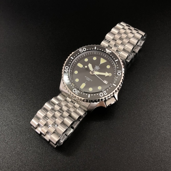 Luminous Automatic Watch Man Mechanical NH35 Sapphire Crystal 316L Ceramic Bezel  Stainless Steel Dive