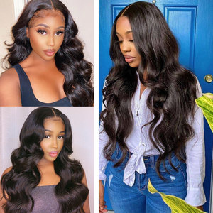 Image 5 - 180 Density Wavy Body Wave Lace Front Wig HD Transparent Lace Frontal Wigs T PART Lace Front Human Hair Wigs Remy Brazilian Wigs