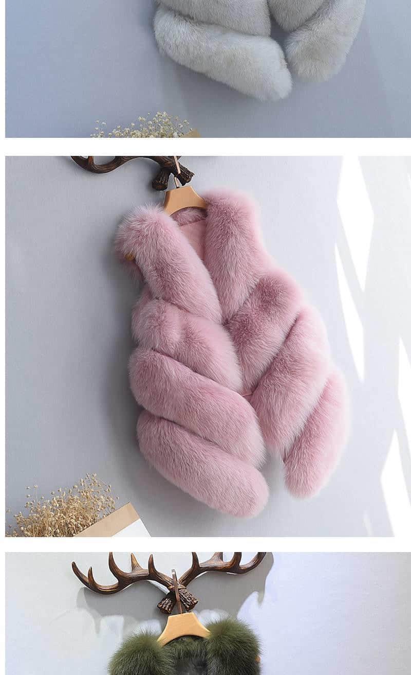 Women's Fox Fur Waistcoat 11