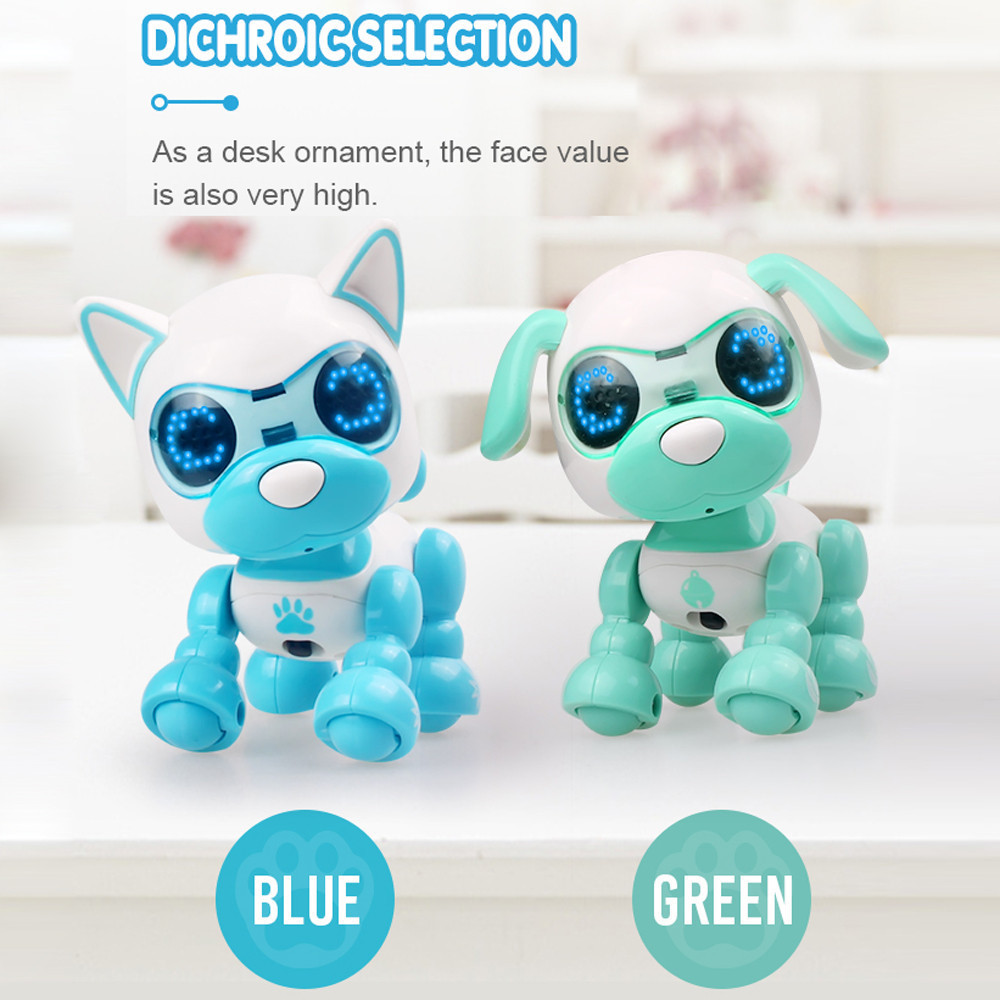 Smart Robot Toy Dog Talk Toy Interactive Smart Puppy Robot Dog Electronic LED Eye Sound Recording Singing Sleep Baby Gift
