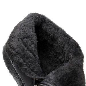 Image 5 - חורף נשים מגפי 2020 חם בפלאש שלג מגפי נשים נעלי צינור עבה עמיד למים רוכסן צד נעלי נשים קרסול מגפי פלוס גודל